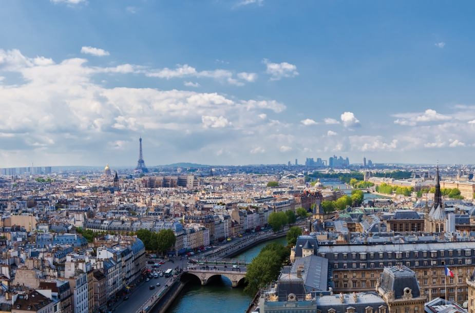 The view from Notre Dame in Paris skyline.